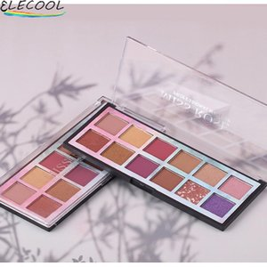 Eye Shadow ELECOOL 12 Color Eyeshadow Palette Makeup Matte Glitter Smoky Pigments PaleCosmetic