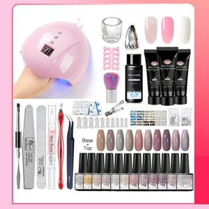 Poly Professional Nail Gel Kit Set With 36W UV Lamp Acrylic Extension Polish All For Manicure Art Kits