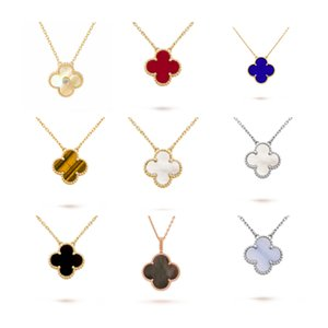 925 sterling silver jewelry four-leaf clover necklace female 18k gold clavicle chain