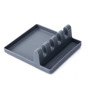 Cozinha Acessórios Cozinhar Ferramentas Resistente ao Calor Silicone Colher Resto Ladle Utensílio Suporte Organizador Estendal Cooking Tool Holder 235 V2
