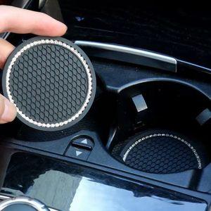 Блестящие алмазные чашки для чашки автомобилей нескользящая бутылка с водой противоскользящая коврик