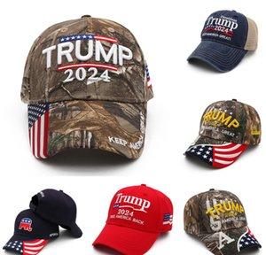 Camouflage US Drapeau américain Trump 2024 Ballon d'été Ballon de baseball Summer Caps Capsiers Unisexes Designers Snapback Sports Jogging Chapeaux de plein air Visor G349T1G