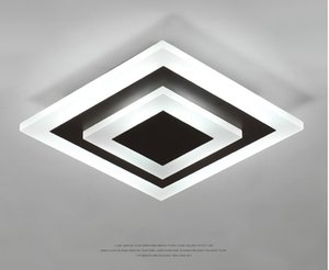 Lámparas de techo LED Lampara TechO Dormitorio Montaje de superficie regulable Lámpara para Corredor de cocina Estudio de baño Moderno Plaza