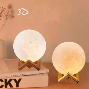 Lights Led creative night lamp charging, remote control shooting 3D printing moonlight