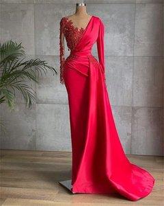 분리 가능한 기차와 함께 인어 댄스 파티 드레스를 쪼개는 섹시한 환상 파란색 새틴 핑크 이브닝 드레스 공식 파티 착용 세련된 사용자 정의 만든 미스터 obe de mariée