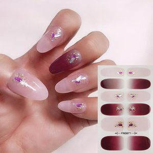 1Sheet Glitter Sequins Series Nail Art Sticker Collection Manicure 3D Polish Strips Wraps For DIY Nails Fashion Party Decor Stickers & Decal
