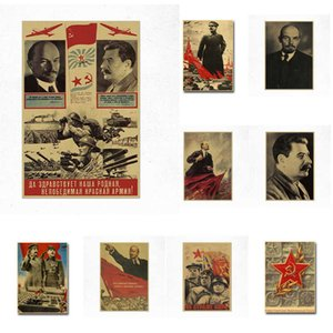 Buy 3 Get 4 Classic CCCP Lenin Stalin The Soviet Union Poster Vintage Painting Bar Wall Art Retro Kraft Paper Posters Wall C0929