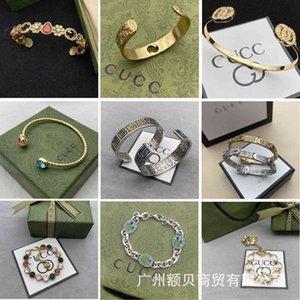 High-quality jewelry Gujia double flower bracelet tiger head Crystal Enamel Baita fashion new street shot