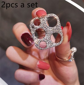 Shiny Crystal Diamond Camera Lens Protector for iPhone 12 11 Pro Max Samsung S21 Ultra Bling Glitter Rhinestone Protective Film Cover Luxury Women