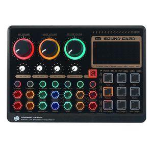 بطاقات الصوت X6Mini بطاقة Live الخارجية لوحة خلاط متعددة الوظائف لتدفق الموسيقى تسجيل الكاريوكي الغناء