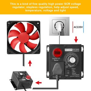 SCR Electronic Voltage Regulator Dimming Dimmers Motor Speed Controller 4000W 220V Single Phrase Motor Fan Speed Controller