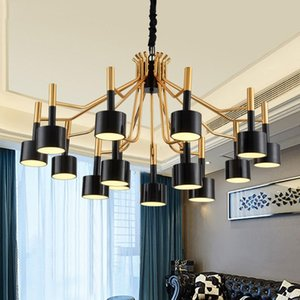 Pendant Lamps Europe Led Iron Crystal Nordic Light Hanging Lamp Retro Ring Dining Rooom Bedroom