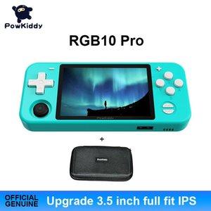 """RGB10PRO Система с открытым исходным кодом Портативная игровая консоль RK3326 Чип 3.5 """"Full Fit IPS экран 3500mAh 3D Rocker Ретро портативные игроки"""