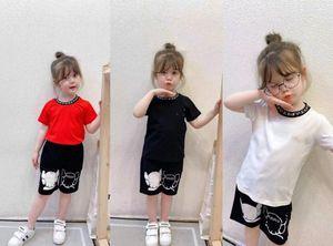 2021 Summer Kids Sport Sets Children letra impresa manga corta camiseta + pantalones cortos casuales 2pcs Boys Boys Girls Designer Trajes A6243