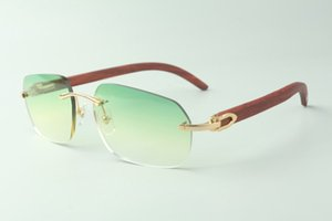 Direct sales designer sunglasses 3524024, original wooden temples glasses, size: 18-135 mm