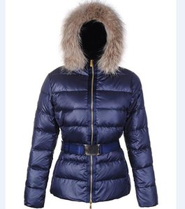 Winter Jacket With Adjustable Waist For Women Down Parkas Long Coat Lady Slim Jackets Letter Budge Sequins Outwear Sytle Warm Coats
