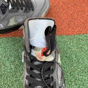 Basketball Gris Chaussures 5S Hommes Haute Qualité Ow Jumpman Black 5 Sneakers de mode