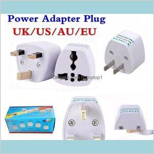 Universal Power Adapter Travel Adaptor Au Us Eu Uk Plug Charger Adapter Converter 3 Pin Ac Power For Australia Zealand Hqcen Cp9Vf