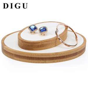 Creative Solid Bamboo Jewels Jadeware Jewellery Display Tray Props Bracelet Ring Necklace Scattered Beads Jewelry Rack