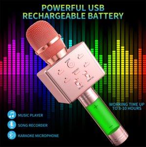 Q7 Handheld Microphone Bluetooth Wireless Magic KTV With Speaker Mic Loudspeaker Portable Karaoke Player For Smartphone 0802218