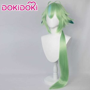 DokiDoki Game Genshin Impact Cosplay Halloween Sucrose Shoes Wig Hair Y0913