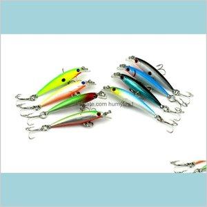 Hengjia High Quality Classic Minnow Hard Body Bait Fishing Lures 10 Treble Sharp Hooks Bionic Fish Shape Plastic Baits Vfrts E8Hi0