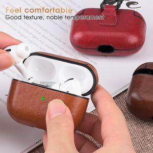 Wireless Bluetooth سماعات الهواء في الهواء برو الحالات الجلدية مع هوك ل airpods 2/3 بو الحافظة سماعة H1 AP3 مصمم سماعة الهاتف واقية حالة