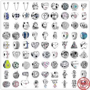 925 Sier Bracelets Accessories Charm Bead Fit Pandora Charms Sier 925 Beads Bracelet for Women Diy Jewelry Gift