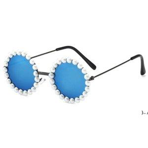Gafas de sol para niños Suministros de fiesta diseñador de marca Pearl Polarized Eyewear Niños Anti-UV Bebé Sombre de sol Sombreado Gafas OWEE5346