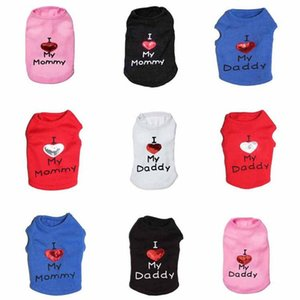 Pet Dog Clothes For Small Dogs Summer Chihuahua Puppy Heart Clothing Shirt Spring Vest Mum Dad Supplies Apparel