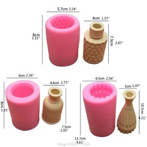 3D Flower Vase Silicone Mold Flower Urn Pot Chocolate Plaster Candle Soap Resin Cement Concrete Casting D15 20 Dropshipping