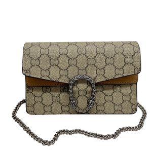 luxury Handbags Women Shoulder Bags 2021 Fashion Chain Designer High Quality Brown Letter Leather Crossbody Bag