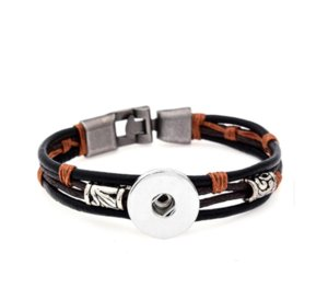 Vocheng Ingwer Snap 18mm Armband Kuh Leathe PS0577