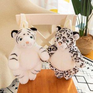 Animal schoolbag girl backpack kindergarten children cartoon plush toy bag tiger snow leopard elephant panda