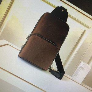 N41719 Avenue حبال حقيبة الكتف حقيبة الكتف الرجال الصليب الأزياء الجسم الجلود في الصدر السفر عارضة قماش حزم الكتفين رياضي با mhev