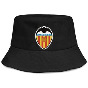 Fashion Valencia CF Los Ches VCF Unisex Foldable Bucket Hat Cool Classic Fisherman Beach Visor Sells Bowler Cap Flash gold Breast cancer