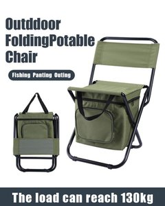Outdoor Folding Fishing Bag Chair Portable Storage Stool Multifunction Camping Painting Climbing Equipment Accessories