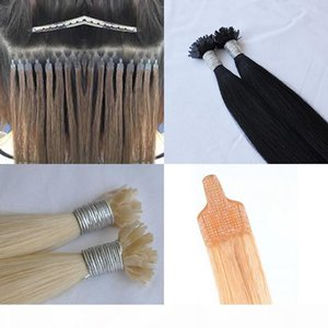 100% human hair 1g strand 200g lot flat tip nano hair extensions tangle free shedding free brazilian Flat Nano Hair Extensions tip