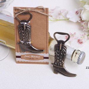 Creative Cowboy Boot Bottle Opener Vintage Metal Corkscrew For Western Birthday Bridal Wedding Favors And Party Gifts HWF9040
