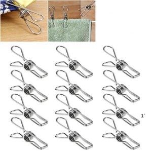 Porte-vêtements en acier inoxydable PEGS Pinces en métal Accessoires pour chaussettes Sous-vêtements Feuille de serviette Tissu OWB5925