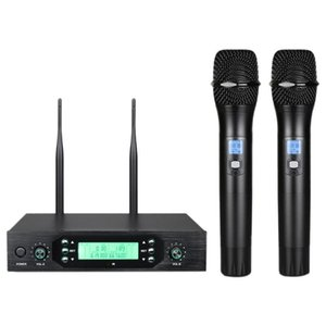 Wireless Microphone One For Two Karaoke Family Ktv Conference Stage Performance Handheld Microphone(EU Plug) Microphones