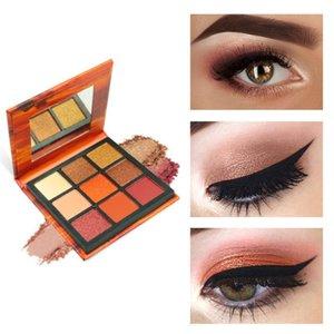 Eye Shadow 9 Colors Long Lasting Shimmer Shine Diamond Eyeshadow Powder Pigment Matte Make Up Glitter Palette Cosmetics