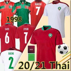 2021 Morocco Fussball Trikots Afrika MAILLOT DE FUCE Ziyech Boufal Fajr Munir Ait Bennasser Amrabat Football Shirts Retro1998 Hakimi Sass Hadji Abrami Uniformen