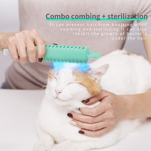 Cat Sterilization Massage Comb Grooming Dog Hand Held Cleaning Mite Removal Deodorization Brush Portable Pet Hair Supplies Free DHL
