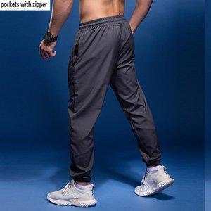 Running Pants BINTUOSHI Sport Men With Zipper Pockets Soccer Training Joggings Fitness For 1
