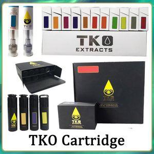 Wholesale TKO Vape Pen Cartridges Atomizer Packaging 0.8ml 1ml Ceramic Thick Oil 510 Thread E Cigarette Cookies Carts
