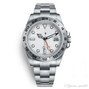 ساعات رجالية فاخرة التلقائي ووتش 40 ملليمتر أبيض الطلب 216570 الفولاذ المقاوم للصدأ لا البطارية الحافة الذاتي متعرج reloj hombre u1