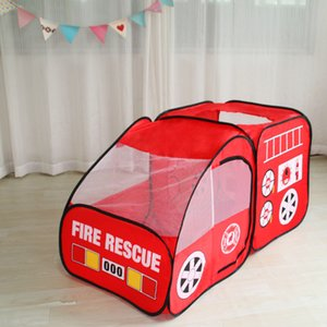 Fire Truck Kids Play Tent Playhouse Indoor Outdoor Pop Up Play Pretend Vehicle Kids Toys US Stock