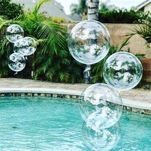 100 unids 20''24''36 '' Globos transparentes Clear Balloon Helio Inflatable Bobo Bobo Brobo Cumpleaños Baby Ducha Decoración 712 V2