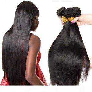Pelo humano recto peruano Leila Color natural Pelo recto 8-40 pulgadas Doble trama Extensiones de cabello Xpression Remy 30 pulgadas